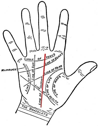 Destiny Through Fate Line Palmistry