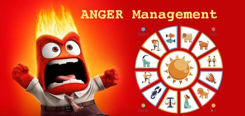 Anger Management Zodiac Signs in Astrology