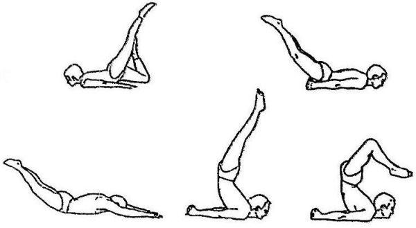 Salabhasana (locust pose) variations