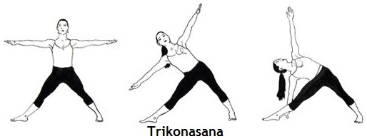 Trikonasana triangle pose