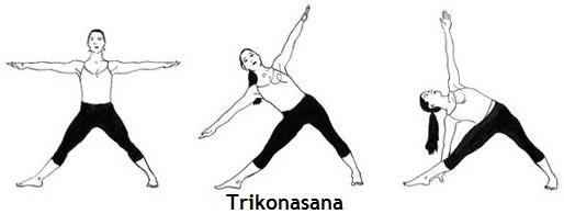 Trikonasana triangle pose