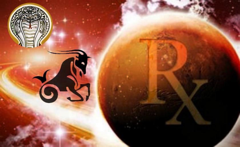 Mars Stationary Retrograde with Ketu 2018