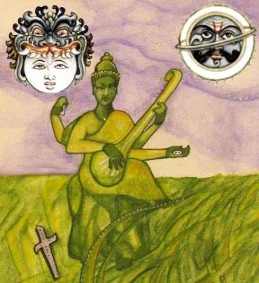 Rahu conjunct Saturn in Libra