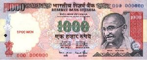 indian currency 1000 rupees