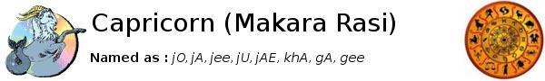 Capricorn Makara Rasi Predictions