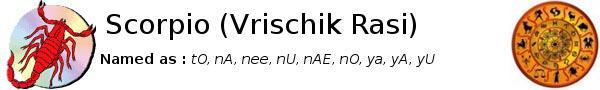 Scorpio Vrischik Rasi Predictions